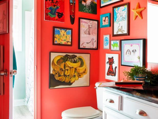 Clever, Low-Budget Boy's Bathroom Makeover