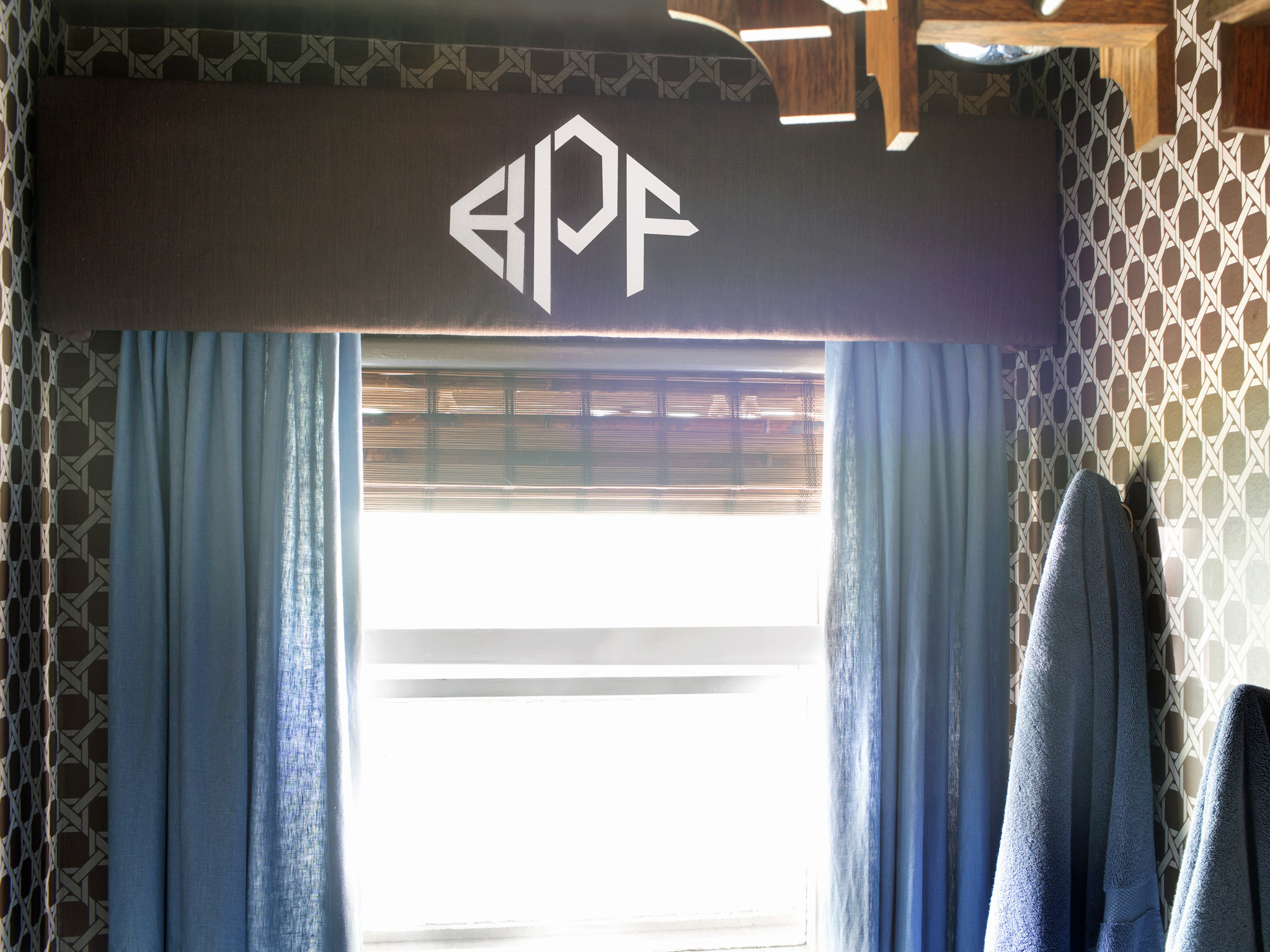 How To Create A Stenciled Monogram Valance