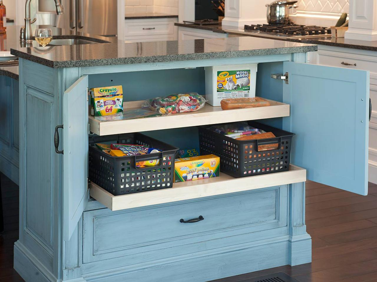 kitchen island cabinet home depot light fixtures cabinets pictures ideas from hgtv toy drawer