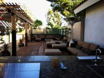 Outdoor Patio Lounge With Contemporary Seating