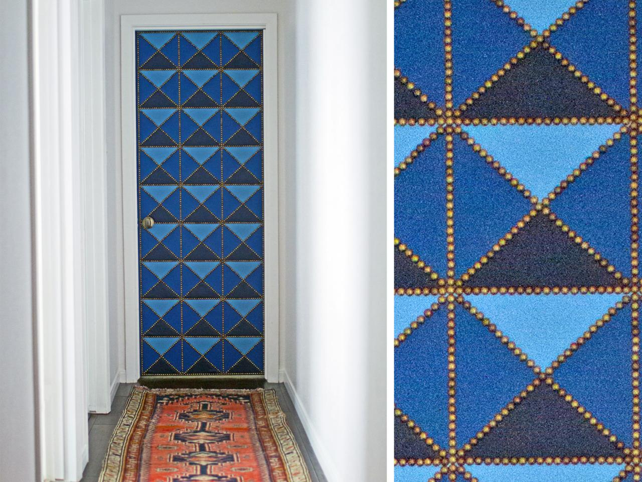 How to Make a Geometric Upholstered Door