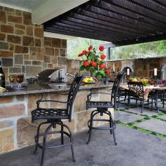 Diy Outdoor Kitchen Kits Cabinet Company Building An Pictures Ideas From Hgtv And Dining Area With Barstools