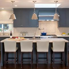 Kitchen Island Stool Patio Kitchens Bar Stools Pictures Ideas Tips From Hgtv Transitional With Blue Cabinets And White Barstools