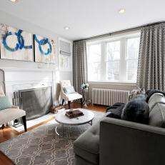 light gray living room rug ideas for black leather couches photos hgtv transitional with charcoal sofa