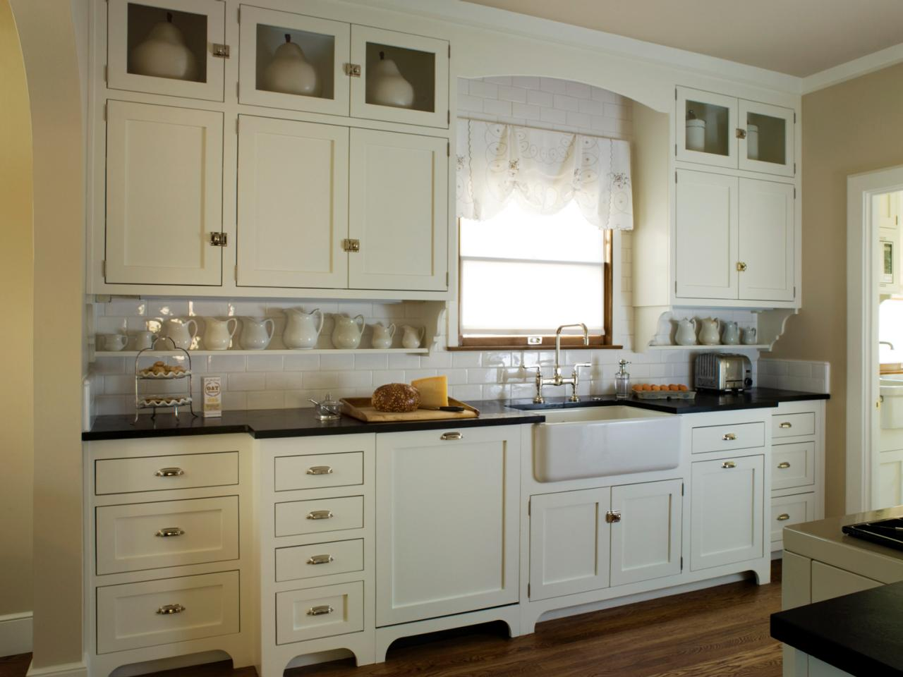hardware for white kitchen cabinets stainless steel faucets photos hgtv