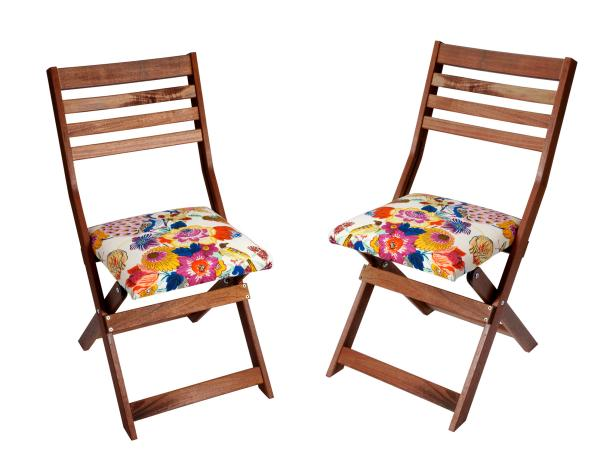 brown wooden folding chairs hanging chair gauteng how to upholster seats with cloth napkins hgtv