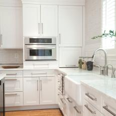 hardware for white kitchen cabinets essentials from calphalon photos hgtv dreamy with metallic