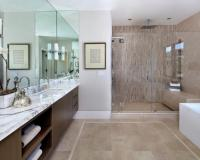 Contemporary Master Bathroom With Glass Enclosed Shower | HGTV