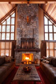 Rustic Stone Fireplace Designs