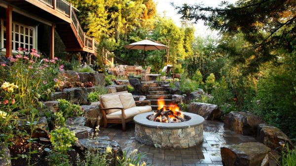 outdoor fire pits and pit
