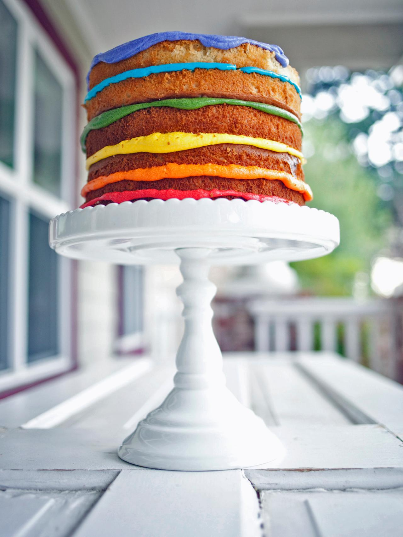 Naked Rainbow Layer Cake Recipe  HGTV