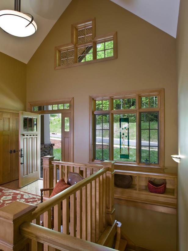 Craftsman Entryway With Vaulted Ceiling  HGTV
