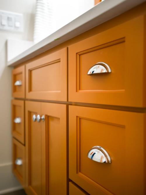 orange bathroom cabinet painted kitchen cabinets a rainbow of possibilities 24076