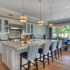 eat in kitchen island refinish sink photos hgtv open plan with oversized and breakfast bar