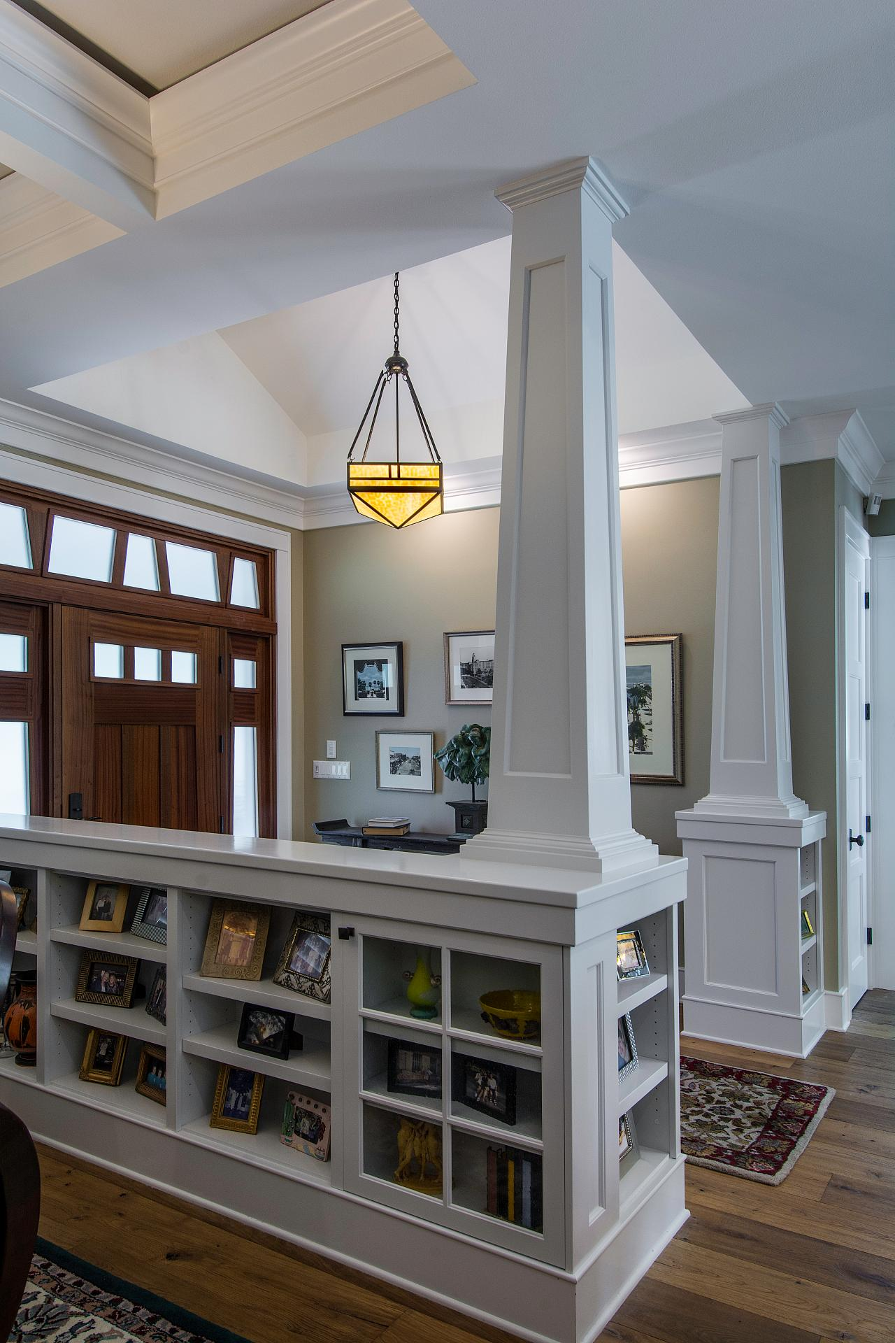 Built In Bookcases Incorporated Into Foyer Columns Hgtv