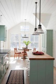 Mint-green Eat-in Cottage Kitchen 2015 Fresh Faces Of