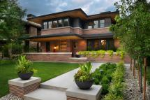 Frank Lloyd Wright-inspired Home With Lush Landscaping