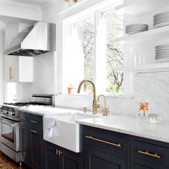 Hardware For White Kitchen Cabinets Red Stone Outdoor 9 Gorgeous Cabinet Ideas Hgtv Bright Airy With Warm Metallic