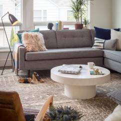 Living Room Sectional Ideas Gorgeous Rooms And Decor 12 For A Grey Hgtv S Decorating Eclectic With Contemporary White Coffee Table