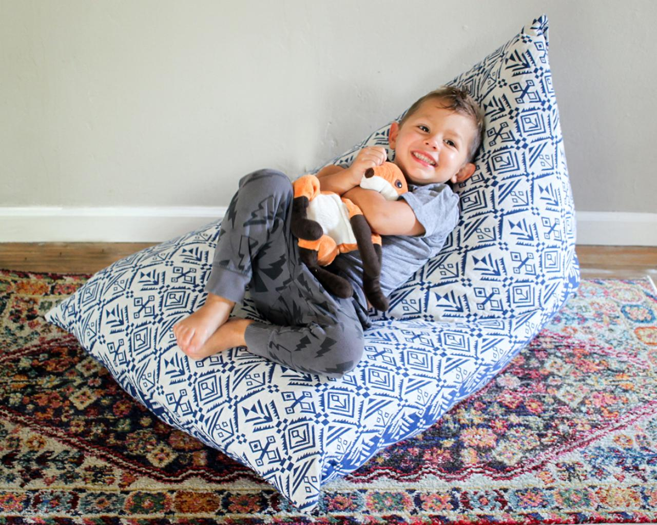 animal bean bag chair bentwood dining how to make a kid 39s using stuffed animals