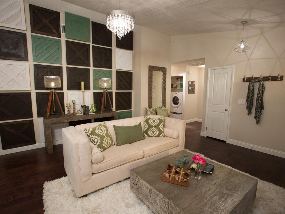 farmhouse glam living room perfect paint colors for a size-challenged home goes vegas cottage | flip or ...