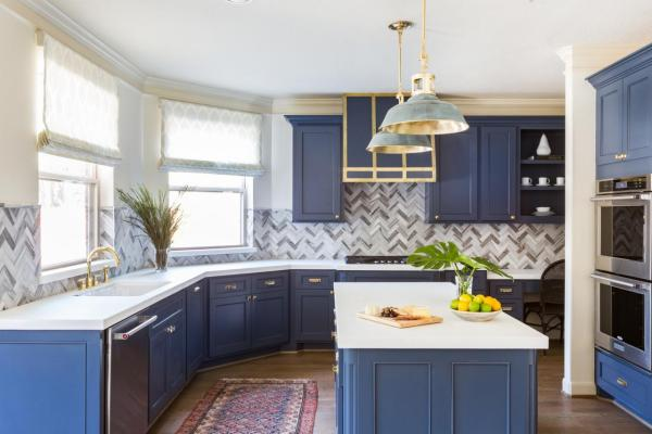 blue and white kitchen cabinet ideas 10 Blue-tiful Kitchen Cabinet Color Ideas | HGTV