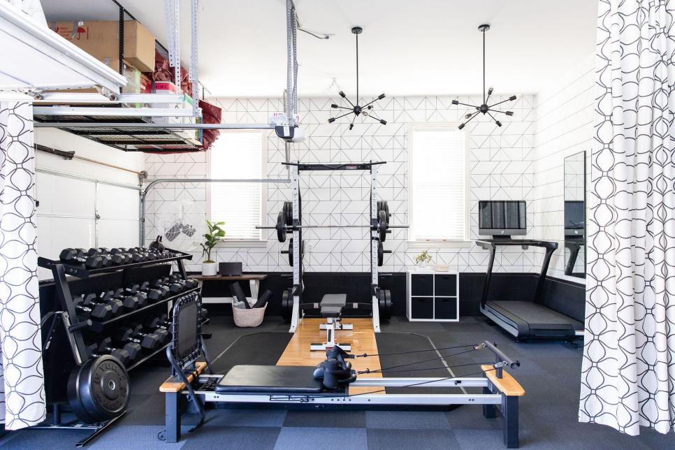 How To Create A Stylish Home Gym In Your Garage Hgtv