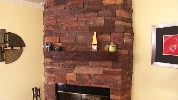 Stacked Stone Fireplace Video HGTV