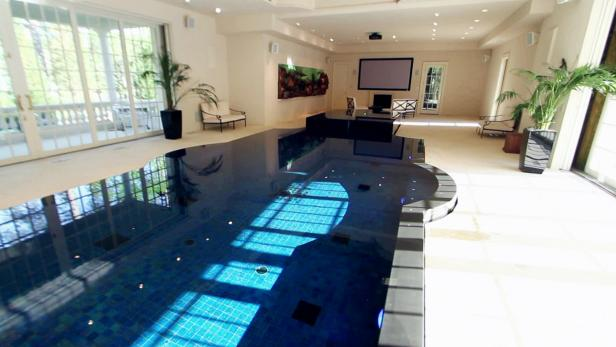 Million Dollar Rooms Home Theater with Swimming Pool Video