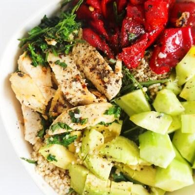 Quinoa Chicken Salad With Avocado | Meal Prep Option