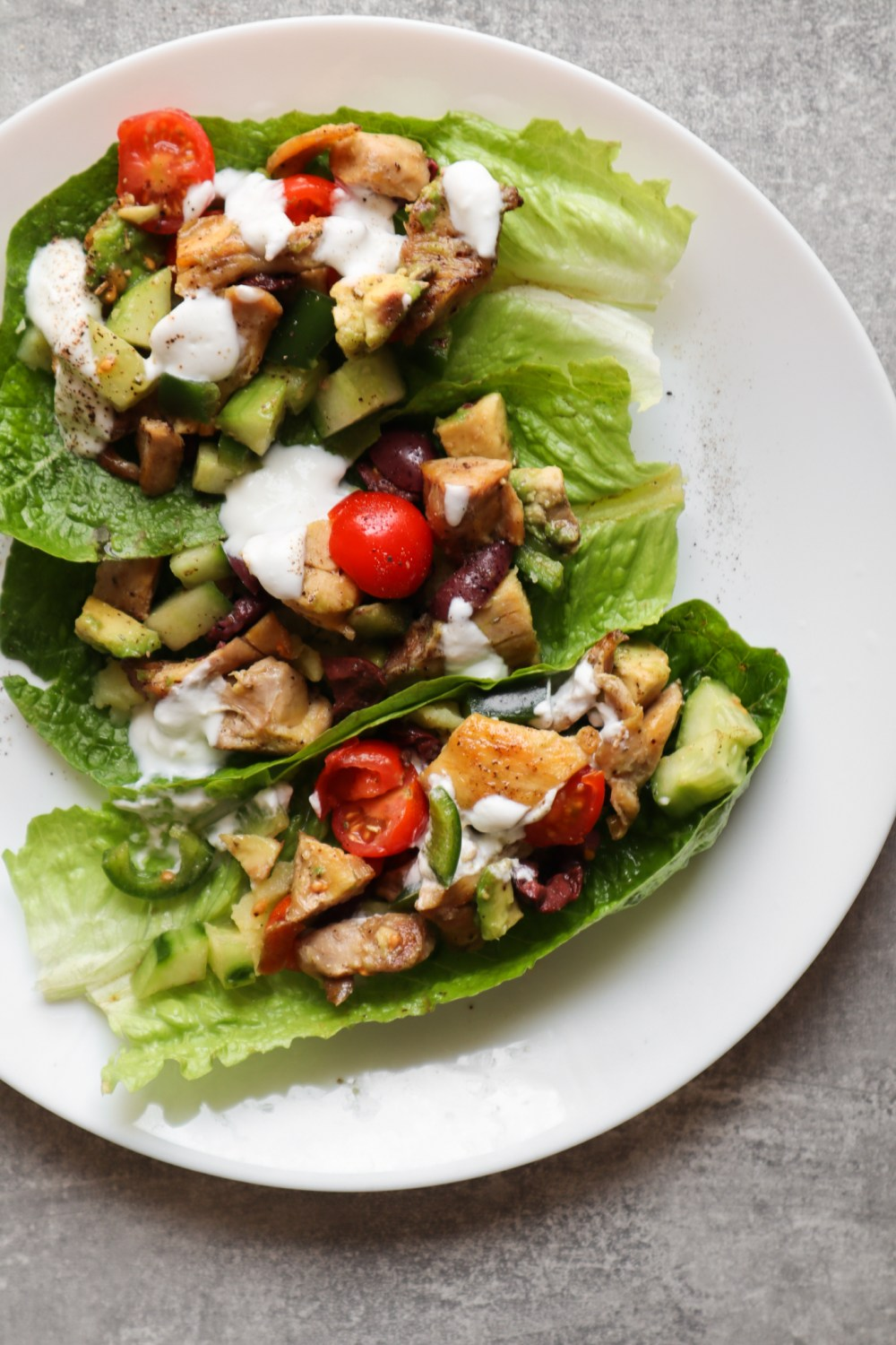 Mediterranean Chicken Lettuce Wraps Recipe: perfect healthy dinner idea to help you eat clean!