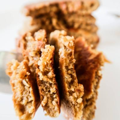 Oatmeal Pancakes {Healthy, But Addictive}