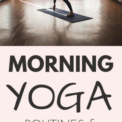 Start your day with these morning yoga stretches and routines, even if you're a beginner! 10 minutes are enough to get the benefits of these yoga poses!