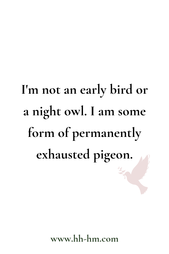 Early Bird Night Owl Quote | Wake up early funny quotes, Monday humor, work humor, mom humor