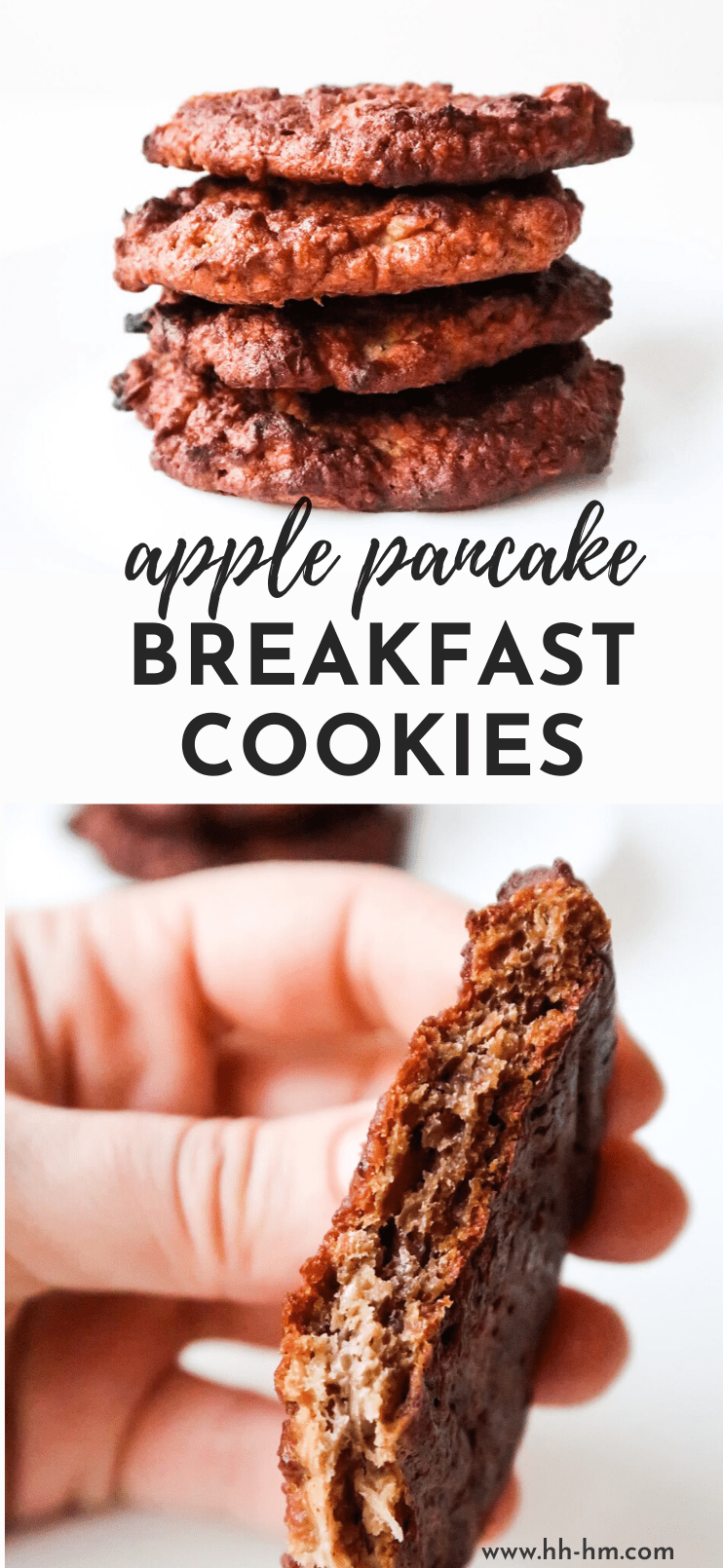 Healthy apple pancake breakfast cookies! This is an easy meal prep breakfast that is healthy and super delicious and can be eaten on the go! These healthy cookies are also great when you're dealing with a huge sweet tooth!