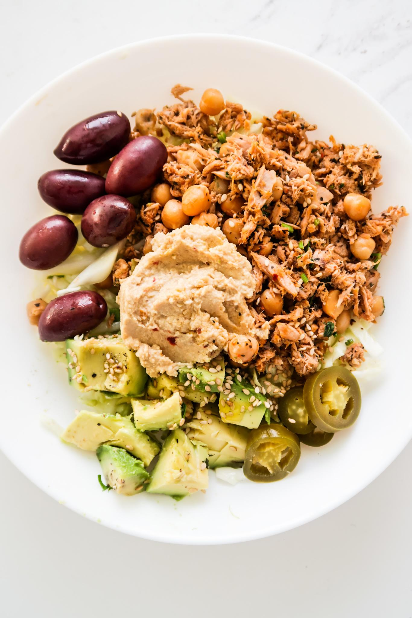 Chickpea Tuna Meal Prep Lunch Bowls