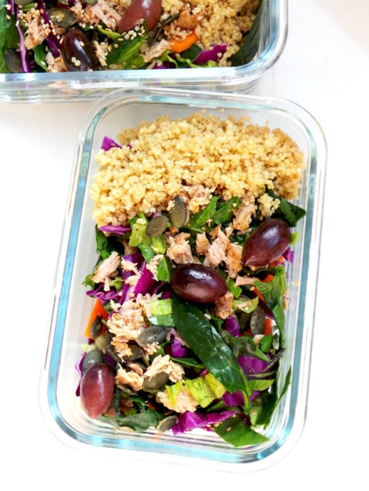 Meal prep quinoa & tuna salad recipe