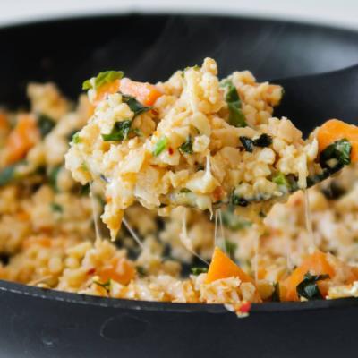 Spicy And Cheesy Cauliflower Rice Recipe