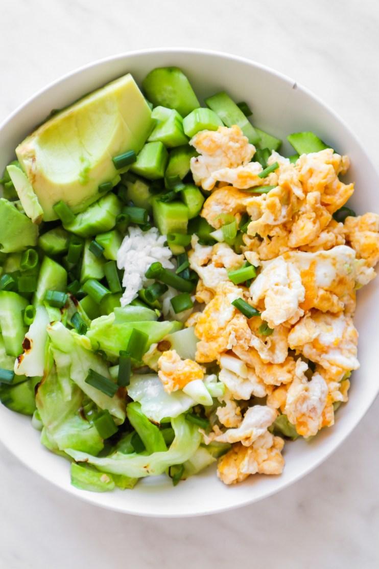 fried rice breakfast bowls meal prep