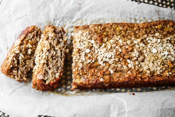 healthy oatmeal banana bread