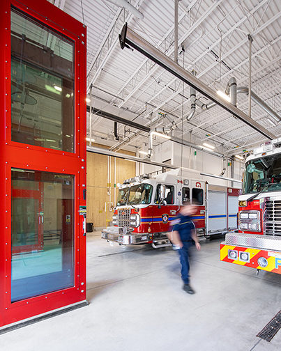 Interior of the Oakville Fire Station #8