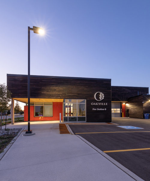 Exterior of the Oakville Fire Station #8