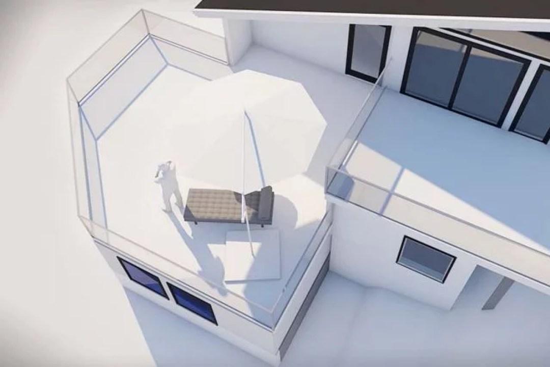 Bilde av tilbygg som krever en byggesøknad