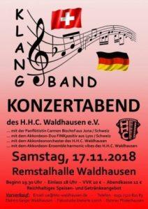 Klangband - Konzertabend des H.H.C. @ Remstalhalle Waldhausen