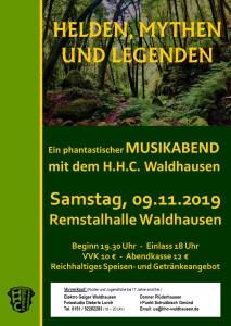 Unterhaltungsabend HELDEN, MYTHEN UND LEGENDEN @ Remstalhalle Waldhausen