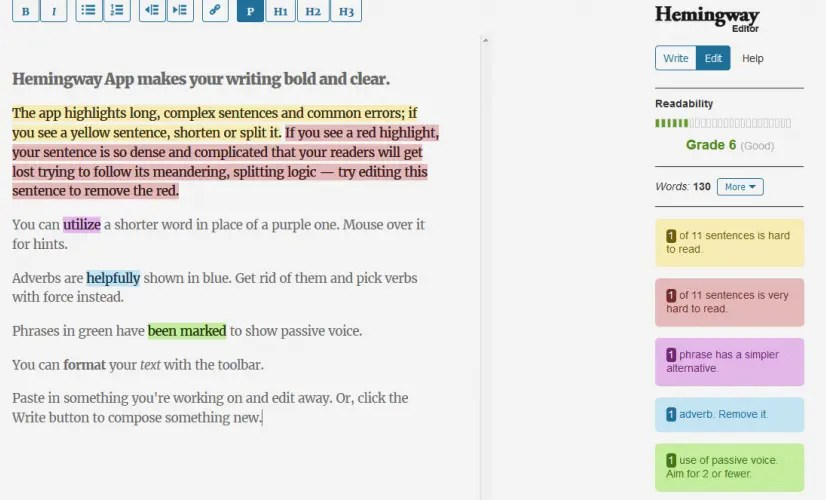 Tools to Make Your Message Clear: Hemingway Editor