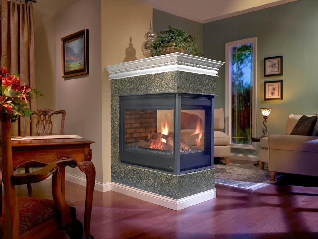 Stone Amp Brick With Peninsula Fireplaces