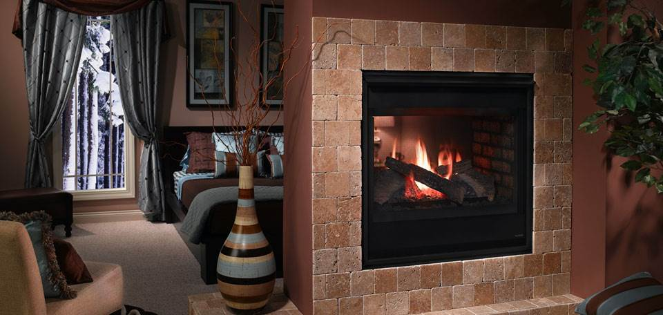 Diy Heatilator Gas Fireplace Conversion Fire Glass Rock With Heatilator See-through Gas Fireplace - Hearth And Home