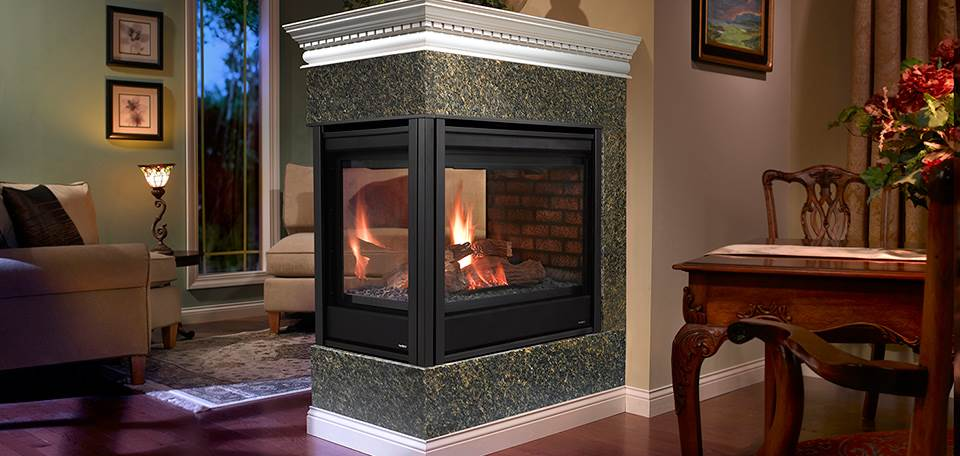 Diy Heatilator Gas Fireplace Conversion Fire Glass Rock With Heatilator Peninsula Gas Fireplace - Hearth And Home