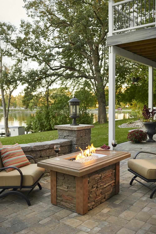 Outdoor Greatroom Company Linear Sierra Fire Pit Table